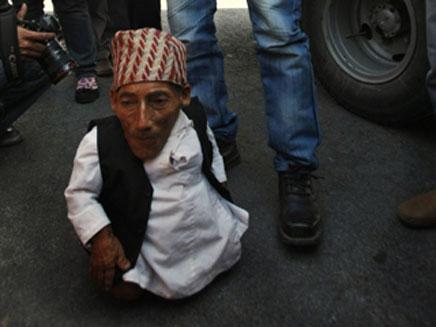 האיש הנמוך ביותר בעולם? (צילום: AP)