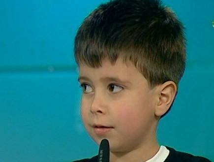 אלון חן, הילד שהופיע עם פורטיס (תמונת AVI: mako)