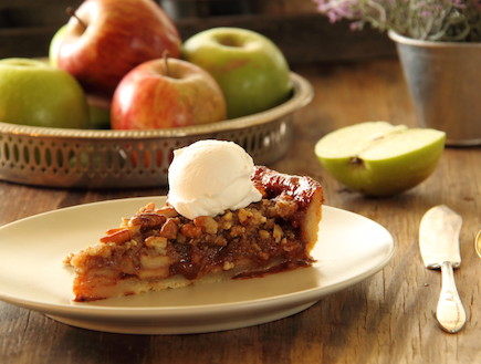 פאי תפוחים, וויסקי ופקאן (צילום: חן שוקרון, אוכל טוב)
