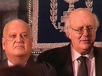 השופט סלים ג'ובראן שותק, היום בטקס (צילום: חדשות 2)