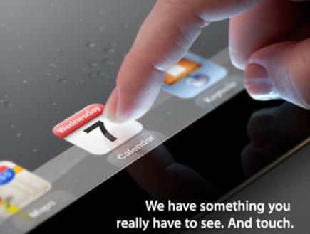 הזמנה להשקת אייפד 3 של אפל (צילום: The Verge)