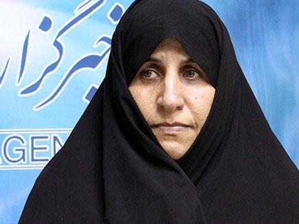 אחותו של אחמדינג'אד. מתבכיינת (צילום: חדשות 2)