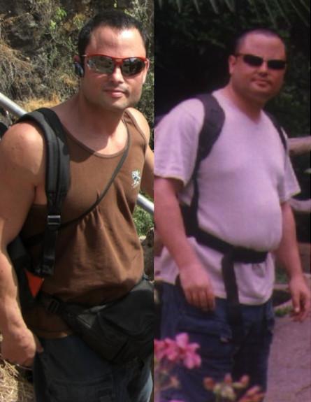 רפי ברוקר לפני ואחרי (צילום: תומר ושחר צלמים)