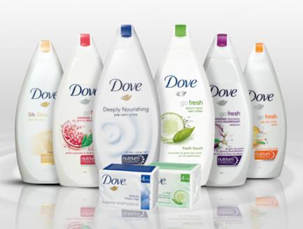 תחליבי רחצה של Dove