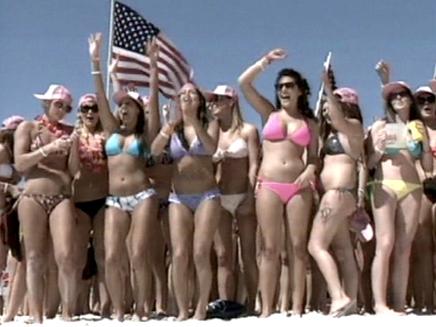 פלורידה: מצעד הביקיני הגדול בעולם (צילום: חדשות 2)