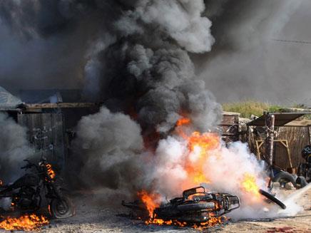 פיצוץ בעזה. ארכיון (צילום: AP)