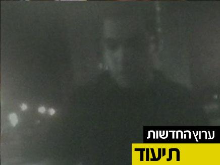 דניאל מעוז תועד בליל הרצח (צילום: חדשות 2)