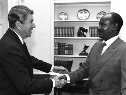 נשיא אוגנדה בבית הלבן (צילום: הבית הלבן)