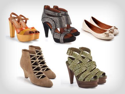 קולאז נעליים ג'פרי קמפבל (צילום: נמרוד קפלוטו)