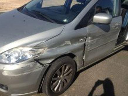 הרכב שנפגע, אתמול (צילום: דוברות אגף התנועה)