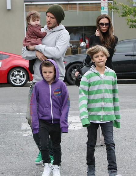 משפחת בקהאם (צילום: Splash News, Splash news)
