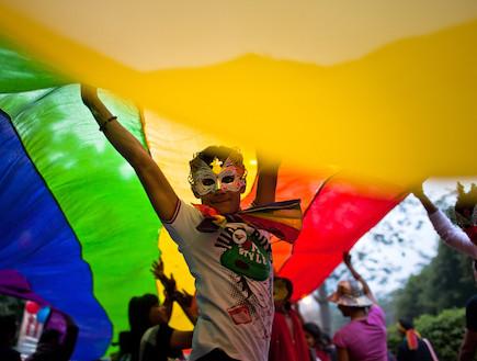 מצעד הגאווה  (צילום: Daniel Berehulak, GettyImages IL)