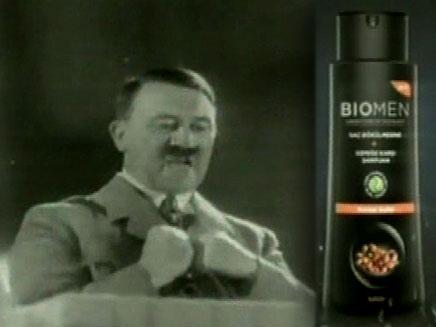 הפרסומת בכיכובו של היטלר (צילום: חדשות 2)