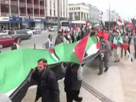 הפגנה נגד ישראל בעיר קוניה שבטורקיה (צילום: חדשות 2)