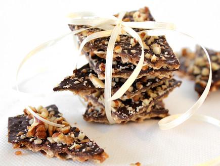 עוגיות קרמל פקאן כשרות לפסח (צילום: אסתי רותם, אוכל טוב)