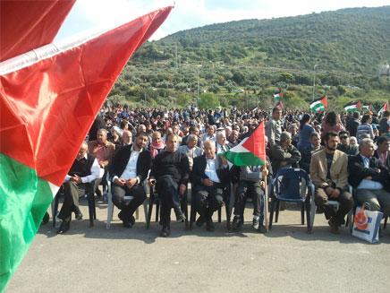 העצרת הגדולה של ערביי ישראל בדיר חנא (צילום: פוראת נסאר, חדשות 2)