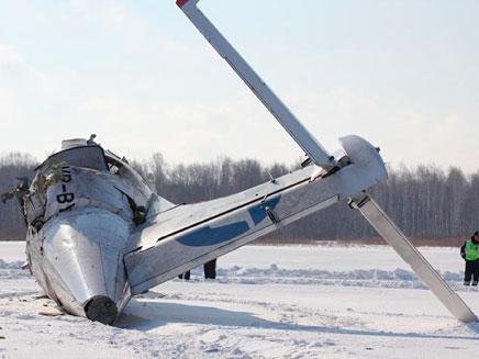 התרסקות מטוס, רוסיה (צילום: חדשות 2)