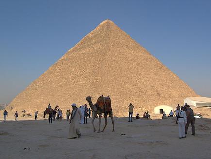 הפירמידה הגדולה בגיזה (צילום: ויקיפדיה)