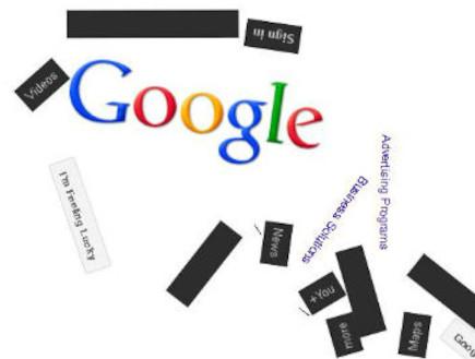 Google Gravity (צילום: גוגל)