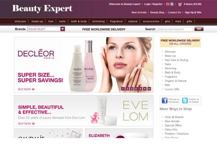 האתר Beauty Expert (צילום: צילום מסך מאתר http://www.beautyexpert.co.uk)
