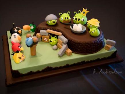 עוגת אנגרי בירדס (צילום: flapon.com)