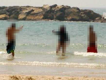 כך זה נראה בחוף (צילום: חדשות 2)