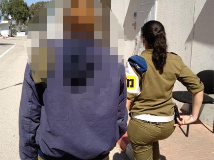החיילת בבית הכלא הצבאי (צילום: חדשות 2)