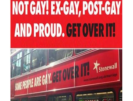 אוטובוס גאווה בלונדון (צילום: צילום מסך daily mail)