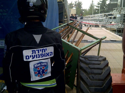 זירת האירוע, היום בהר הרצל (צילום: חדשות 24)
