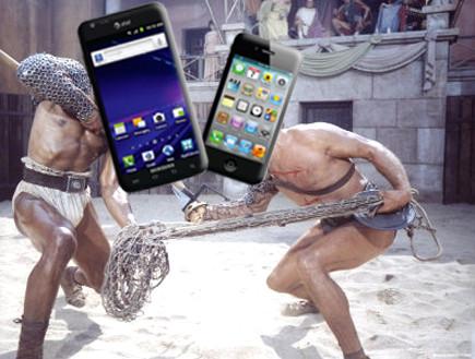 אייפון VS סמסונג גלקסי  (צילום: אילוסטרציה)