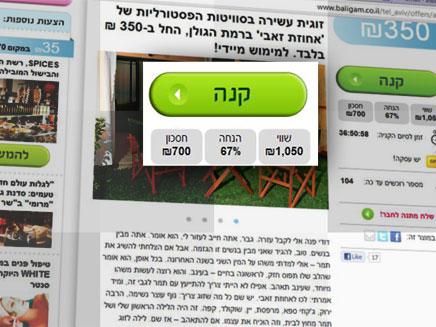 קופונים באינטרנט (צילום: חדשות 2)
