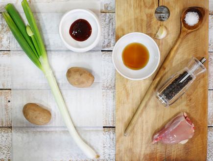 פרגיות ותפוחי אדמה - לפני (צילום: אפיק גבאי, אוכל טוב)