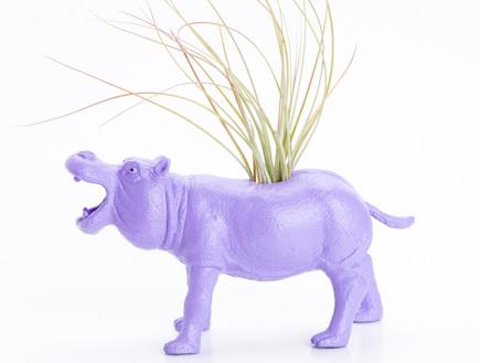 עיצוב חיות, אדנית בצורת היפופוטם (וידאו WMV: מתוך אתר: http://www.etsy.com)