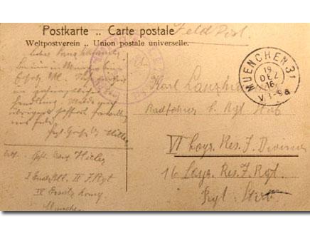 הגלויה שהיטלר שלח בשנת 1916 (öéìåí: חדשות 2)