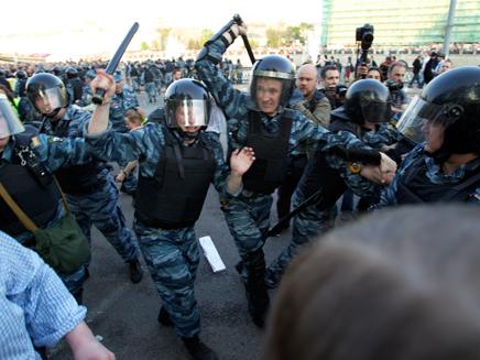 חשש ממהומות וגילויי אלימות, מוסקבה (צילום: AP)