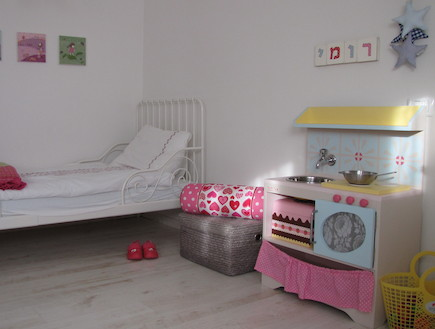 אסקופה, חדר ילדה אחרי שיפוץ