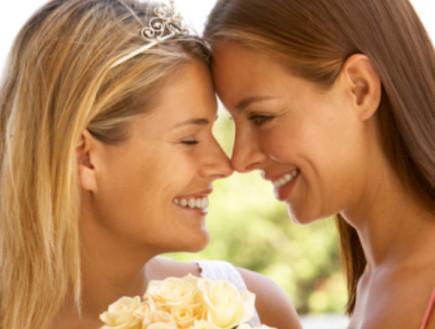 זוג לסביות חתונה (צילום: אימג'בנק / Thinkstock)