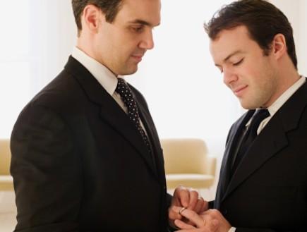 זוג הומואים בחתונה (צילום: אימג'בנק / Thinkstock)