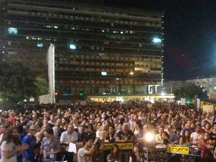"""מחאה חברתית מתחדשת, הפגנה בכיכר רבין ת""""א (צילום: חדשות 2)"""