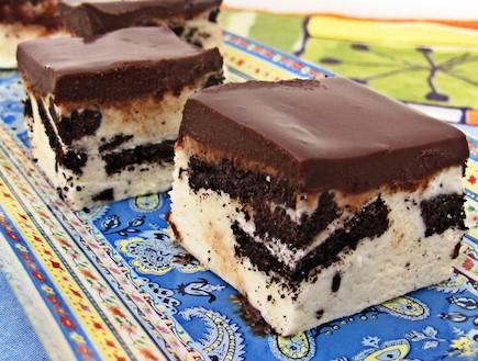 ריבועי פאדג' שוקולד לבן (צילום: דליה מאיר, קסמים מתוקים)