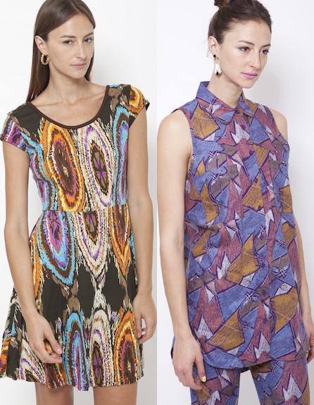 שמלה וחולצה עם הדפסים גיאומטרים (וידאו WMV: תום מרשק)