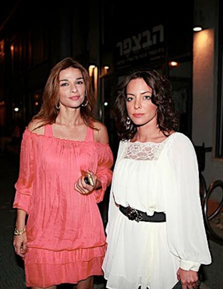 אורנה דץ ומיכל אמדורסקי - יום הולדת לאביב אלוש (צילום: עמי סיאנו)