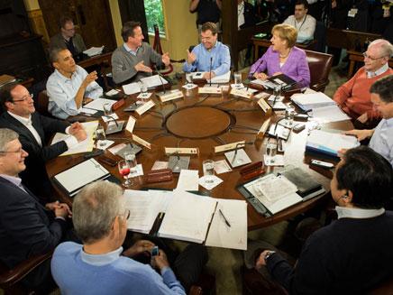 שוקלים תקיפה באירן? מנהיגי מדינות ה-G8 (צילום: AP)