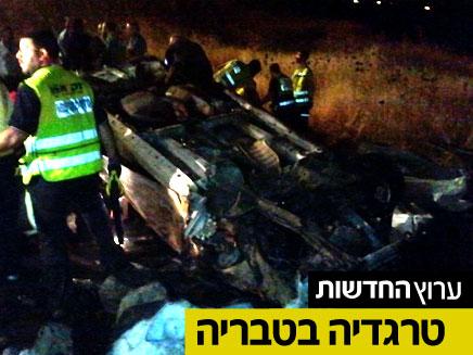 תאונת דרכים קשה , טבריה (צילום: חדשות 2)