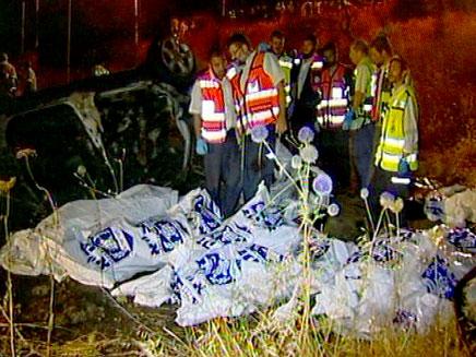 זירת התאונה בטבריה, בשבוע שעבר (צילום: חדשות 2)