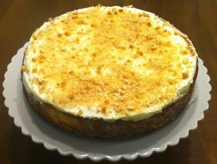 עוגת גבינה עם ביסקוויטים (צילום: אסי עזר, אוכל טוב)