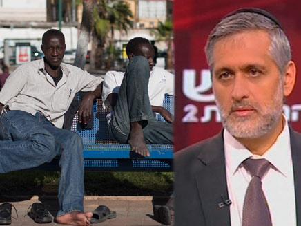 אלי ישי+ סודנים (צילום: חדשות 2)