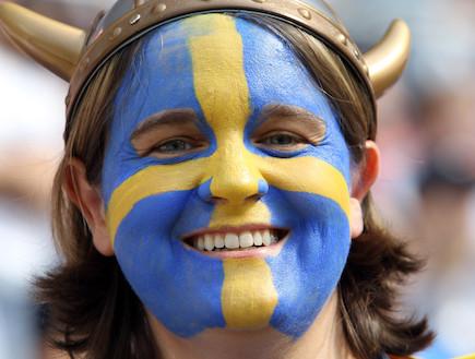 אוהדת שבדיה (צילום: Martin Rose, GettyImages IL)