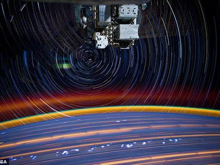 תיעוד ייחודי מהחלל (צילום: נאסא)