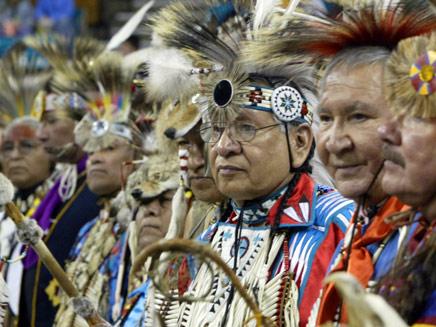 """מפגש שבטים אינדיאנים בארה""""ב (צילום: רויטרס)"""